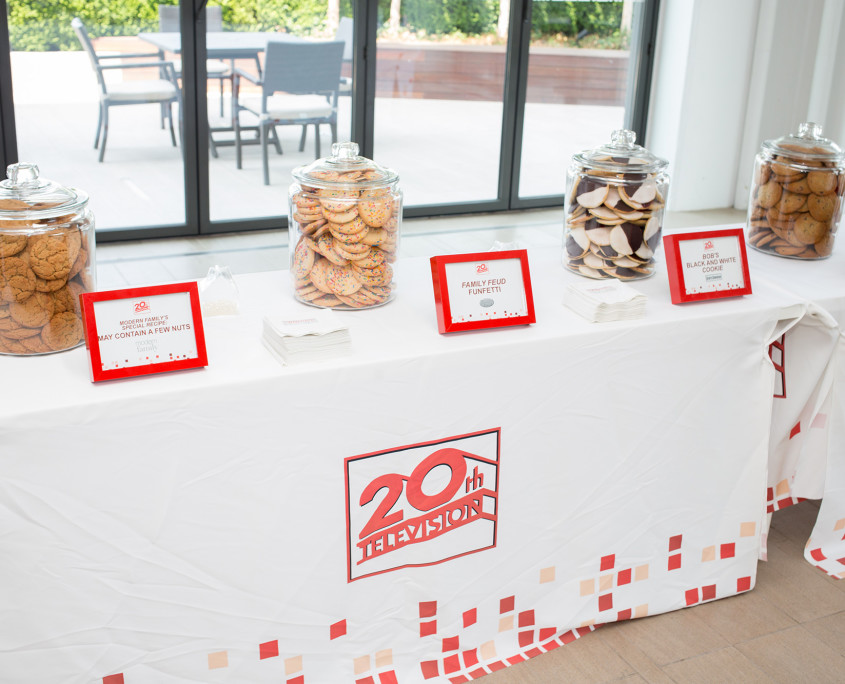 A diverse spread of cookies were offered at the Twentieth Television Milk & Cookie Bar, each uniquely named after one of the network's shows.
