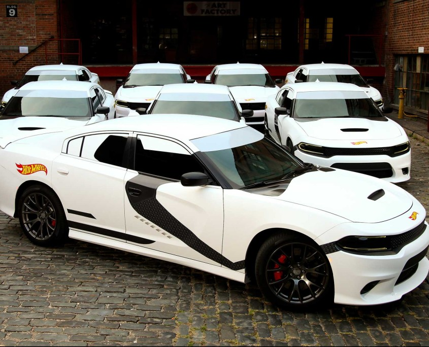 The full fleet of Stormtrooper Dodge SRT's were quite a sight on Hot Wheels Force Friday.