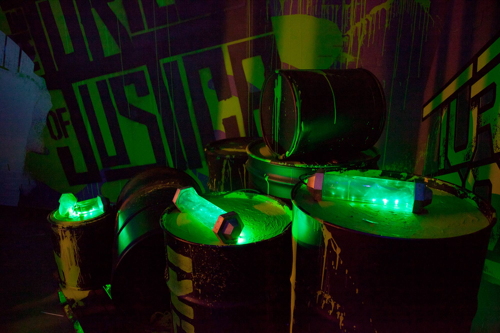 Glow in the dark sludge was only one of the iconic elements in Nickelodeon's Teenage Mutant Ninja Turtle hallway takeover at Comic Con.