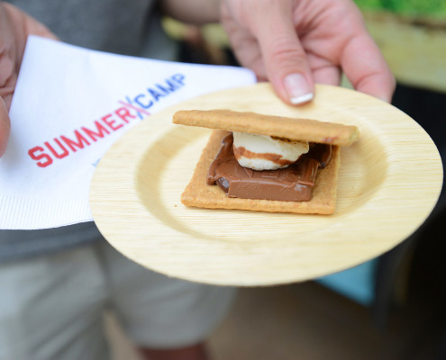 The delicious s'mores evoked memories of summer camp, with each served hot and made to order.