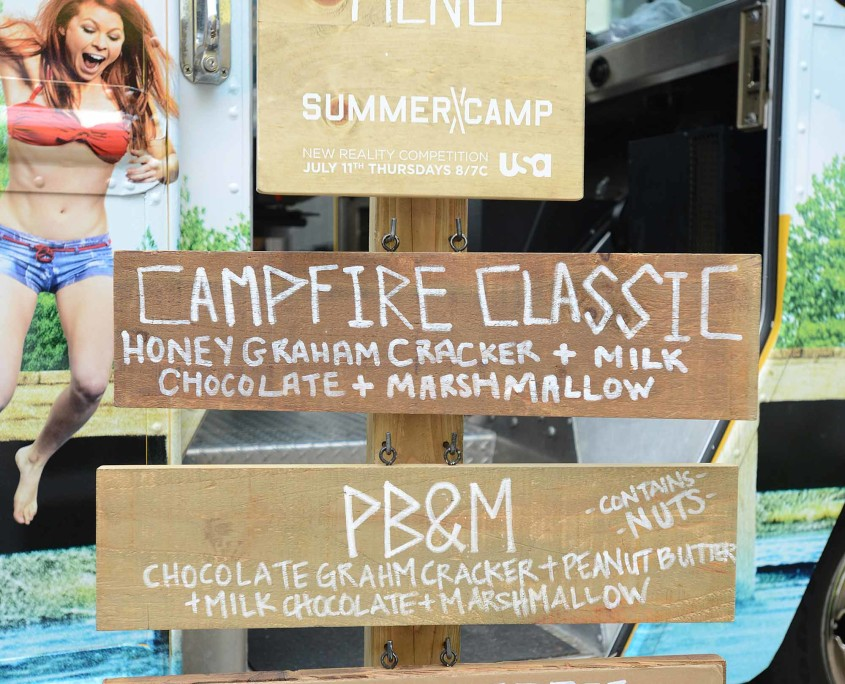 The Summer Camp food truck offered a diverse menu of gourmet s'mores.