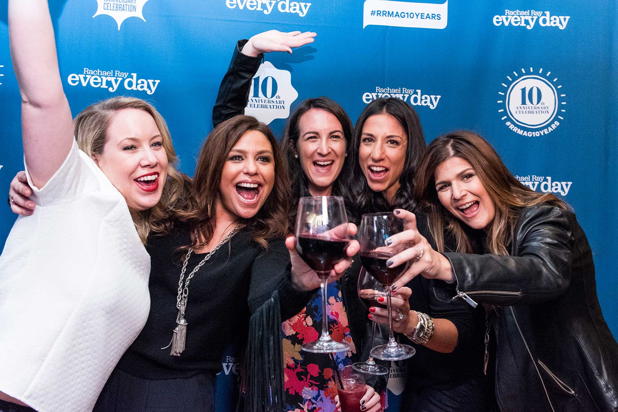 Rachel Ray and colleagues enjoy the VIP Party celebrating the 10 year anniversary of her magazine.