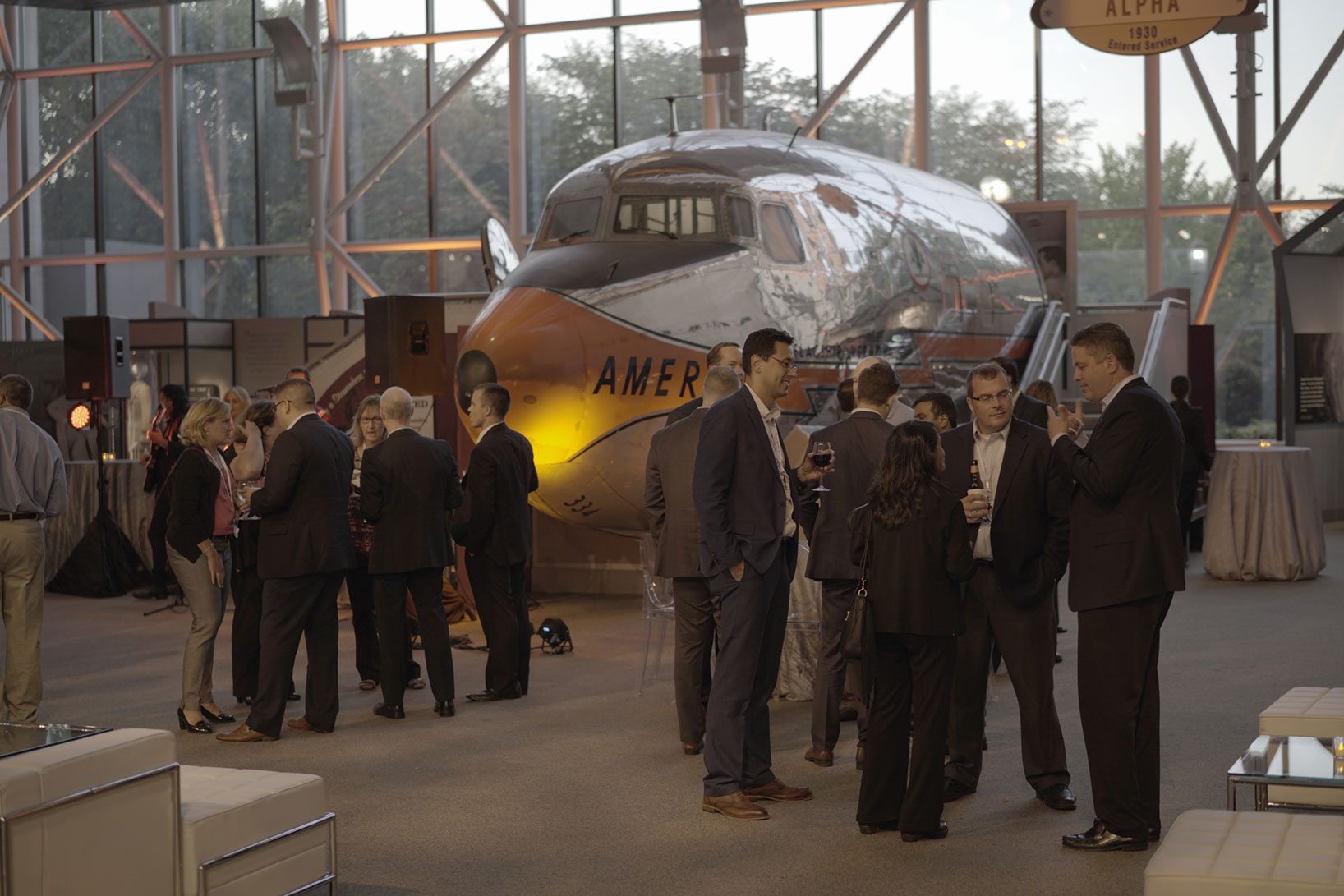 NEXUS '15 attendees relax after a day of discussing prudent Life Sciences topics to enjoy The Smithsonian National Air and Space Museum.