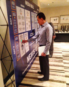 The Poken Media Wall brought NEXUS '15 attendees event content in an instant and provided an innovative and unique way for everyone to network.