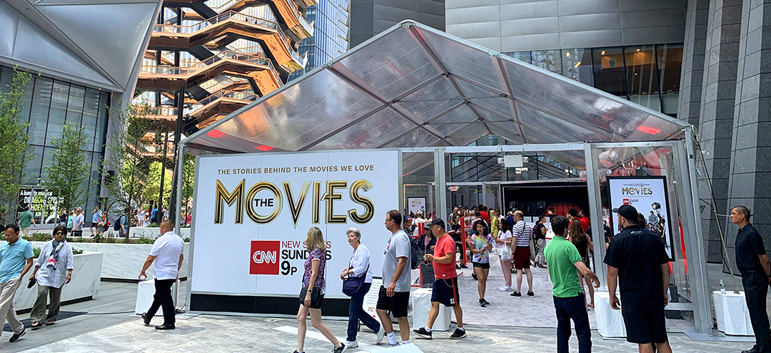 CNN The Movies Pop Up Video Store Experience brought foot traffic to Hudson Yards in NYC