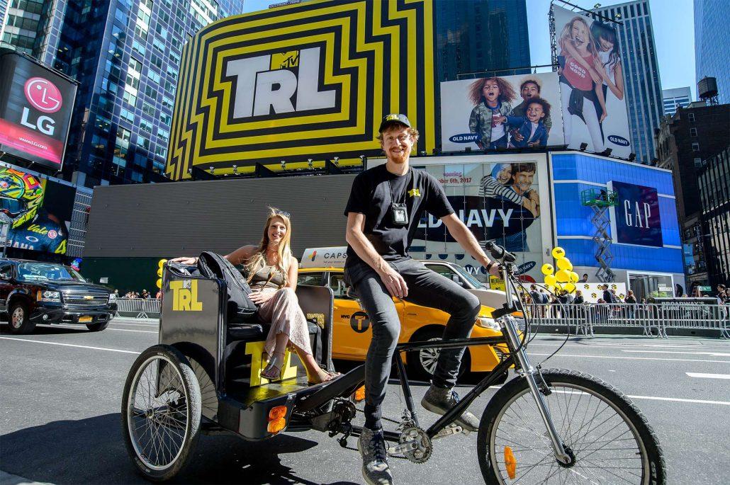 MTV TRL pedicab