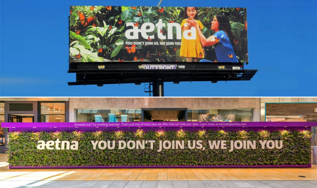 Aetna Living Billboard and OOH